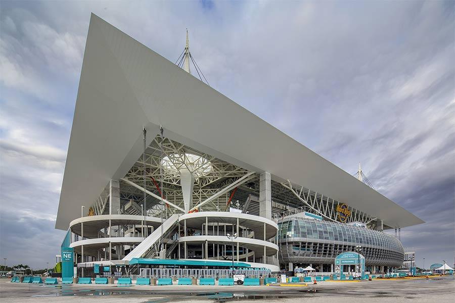 Hard Rock Stadium Exterior Close Up