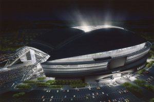 Dallas Cowboys Stadium Night View
