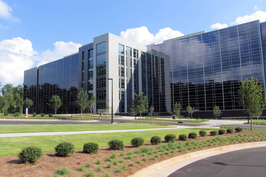 Side of Raleigh Office Building